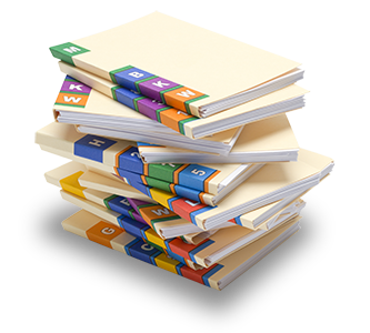 stack of scanned medical charts
